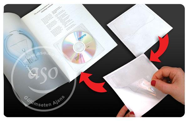 Çıkartma cd zarfı, plastik şeffaf cd-dvd zarfları